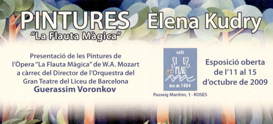 Elena Kudry al SI US PLAU de Roses