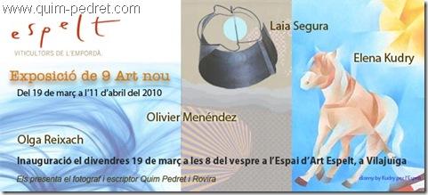 Invitació Espelt 9 art nou