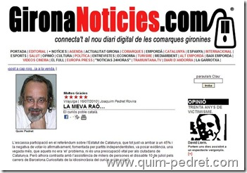 Quim Pedret Girona noticies